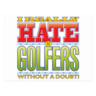 Golfers Hate Face Post Card