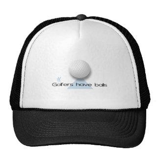 Golfers have balls mesh hat