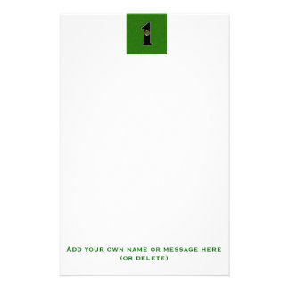 Golfers Hole in One. Luck or Skill? Stationery Paper