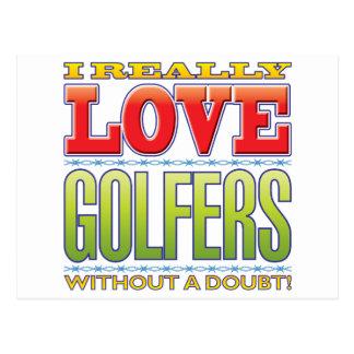 Golfers Love Postcard