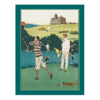 Golfing at the Club Postcard