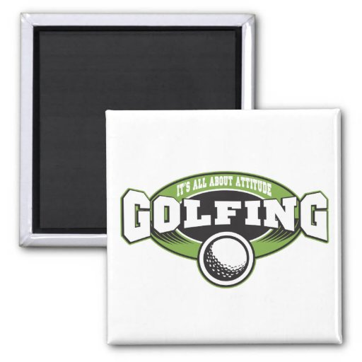 Golfing Attitude Fridge Magnets