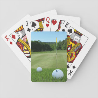 Golfing Ball Monogram Golf Course Playing Cards