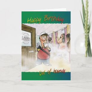 Funny Golf Birthday Cards