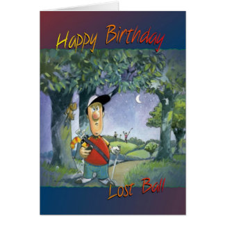 Golfing birthday card