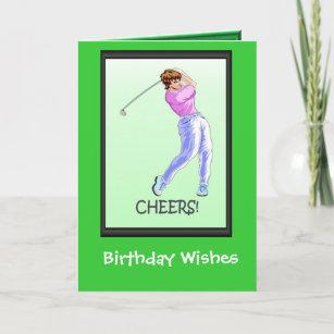 Golfing Birthday Cards Lady Golfer Card