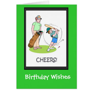 Golfing Birthday cards, New style club Greeting Card