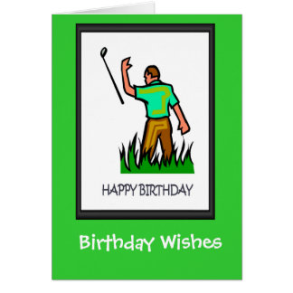 Golfing Birthday cards, The club doesn't work Greeting Card