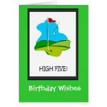 Golfing Birthday cards, The final hole Greeting Card