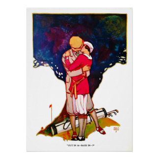 Golfing Couple - Archival Print