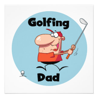 Golfing Dad Tshirts and Gifts Announcement