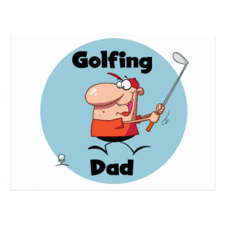 Golfing Dad Tshirts and Gifts Postcard