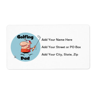 Golfing Dad Tshirts and Gifts Shipping Label
