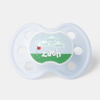 Golfing Daddy's Little Caddie Custom Baby Pacifier
