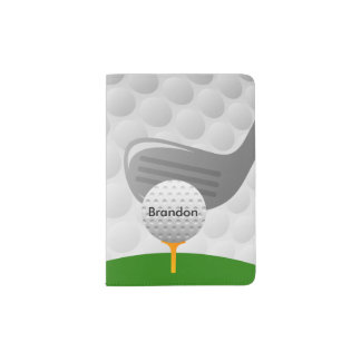 Golfing Design Passport Cover