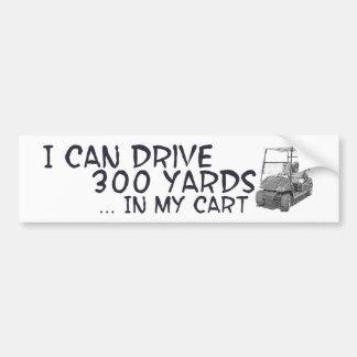 Golfing Drive Bumper Sticker