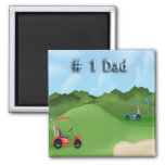Golfing Father's Day Magnet