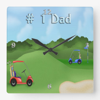 Golfing Father's Day Wall Clock