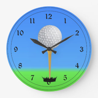 Golfing - Golf Ball on a Tee Wallclocks