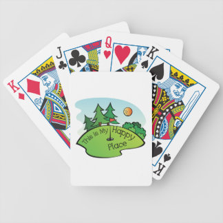 Golfing Golf Course Hole Happy Place Poker Deck