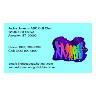 Golfing Golf Golfers Contact Business Cards Card