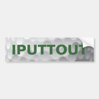 Golfing Golf putting bumper sticker. Bumper Sticker