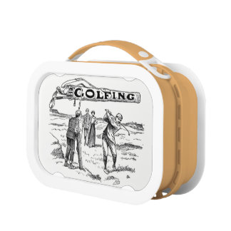 Golfing Golfer Golf Vintage Golf Player Tournament Lunch Box