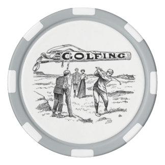Golfing Golfer Golf Vintage Golf Player Tournament Poker Chips