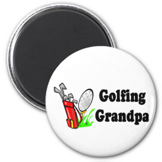 Golfing Grandpa T-shirts and Gifts. Magnet