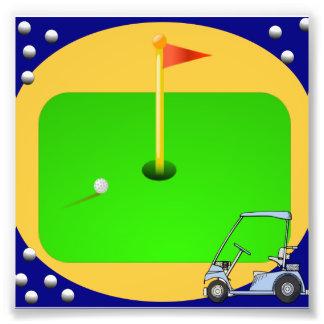 Golfing Green Photo Print