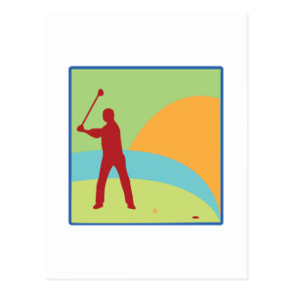 Golfing Green Postcard