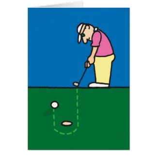 Golfing Greeting card