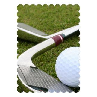 Golfing 13 Cm X 18 Cm Invitation Card