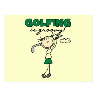 Golfing is Groovy Tshirts and Gifts Postcards