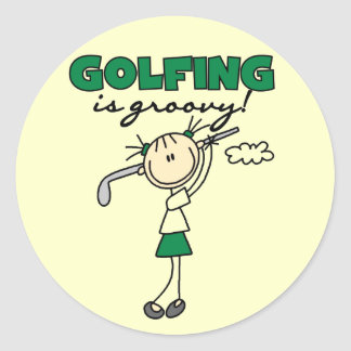 Golfing is Groovy Tshirts and Gifts Round Sticker