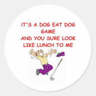 golfing joke round sticker