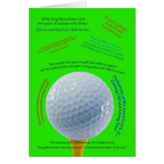 Golfing Jokes  card