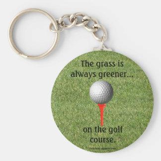 Golfing keychain