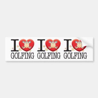 Golfing Love Man Bumper Sticker