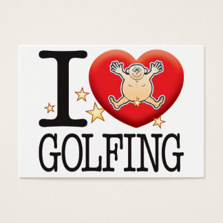 Golfing Love Man Business Card