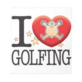Golfing Love Man Notepad
