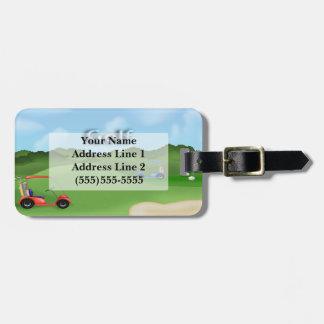 Golfing Luggage Tag
