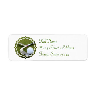 Golfing Mailing Label Return Address Label
