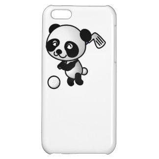 Golfing Panda Cartoon iPhone 5C Covers