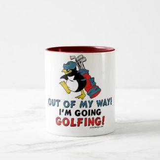 Golfing Penguin Mug