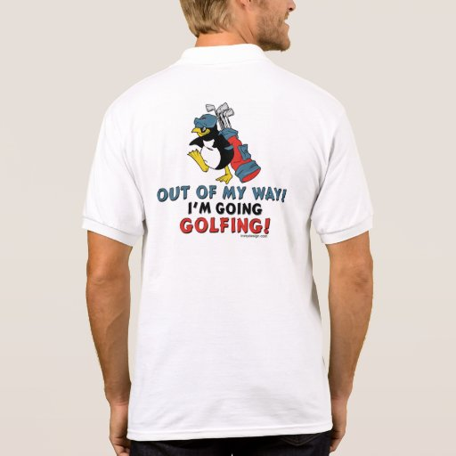 Golfing Penguin Polo T-shirts