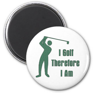 Golfing Philosophy 6 Cm Round Magnet