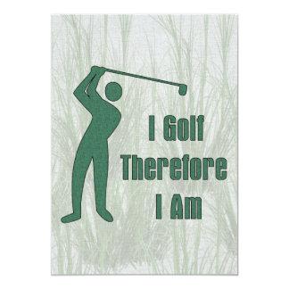 Golfing Philosophy 13 Cm X 18 Cm Invitation Card