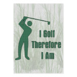 Golfing Philosophy Pack Of Chubby Business Cards