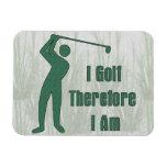 Golfing Philosophy Vinyl Magnet